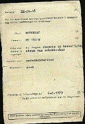 Moturist sidecar registration © 1979 - Jaap Luyten