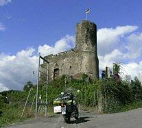 de ruïne Landschut bij Bernkastel-Kues