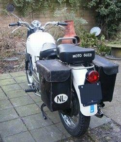 Moto Guzzi Nuovo Falcone, original tail light & pilion seat