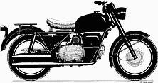 Moto Guzzi Nuovo Falcone drawing